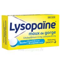 LYSOPAÏNE Comprimés à sucer maux de gorge sans sucre 2T/18 à MURET
