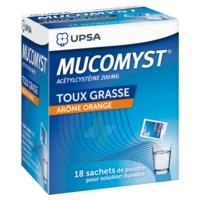 MUCOMYST 200 mg Poudre pour solution buvable en sachet B/18 à MURET