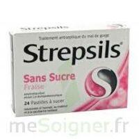 STREPSILS FRAISE SANS SUCRE, pastille édulcorée à l'isomalt, au maltitol et à la saccharine sodique à MURET