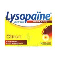 LYSOPAÏNE AMBROXOL 20 mg Pastilles maux de gorge sans sucre citron Plq/18 à MURET