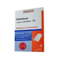 DICLOFENAC RATIOPHARM CONSEIL 1 %, emplâtre médicamenteux à MURET