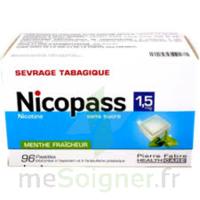 Nicopass 1,5 Mg Pastille Sans Sucre Menthe Fraîcheur Plq/96 à MURET