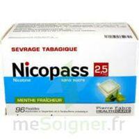 Nicopass 2,5 Mg Pastille Menthe Fraîcheur Sans Sucre Plq/96 à MURET