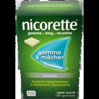 NICORETTE 2 mg Gom à mâcher médic sans sucre menthe fraîche Plq/105gom à MURET