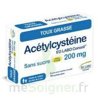 ACETYLCYSTEINE EG LABO CONSEIL 200 mg SANS SUCRE, poudre pour solution buvable en sachet-dose à MURET