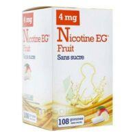 Nicotine Eg 4 Mg Gomme à Mâcher Médicamenteuse Sans Sucre Fruit édulcorée à L'acésulfame Potassique Et Saccharine Plq/108 à MURET