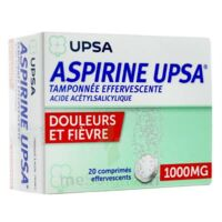 Aspirine Upsa Tamponnee Effervescente 1000 Mg, Comprimé Effervescent à MURET