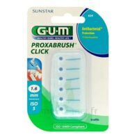 GUM PROXABRUSH CLICK, 1,6 mm, bleu , blister 6 à MURET