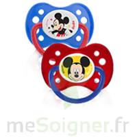 Dodie Disney Sucette anatomique silicone +6mois Mickey Lot/2