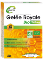 Cooper Gelée Royale Bio 1500 Mg Solution Buvable 20 Ampoules/10ml à MURET